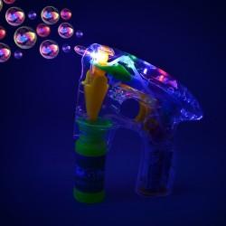 Pistol pentru baloane de sapun cu LED