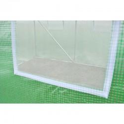 MT Malatec Alagút típusú melegház, 2x2x2 m, fémkeret, UV szűrő, ablakok szúnyoghálóval