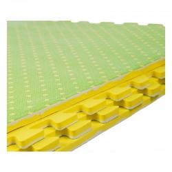 ProCart® puzzle szőnyeg, EVA hab, 60x60 cm, 2 oldal, 4 darab, vastagság 1 cm, zöld