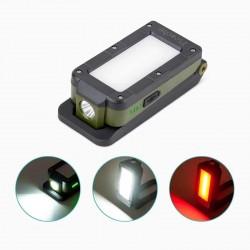 Rii Tek COB + XPE LED munkalámpa, USB újratölthető, 4 megvilágítási mód, mágneses, összecsukható
