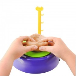 MT MALATEC fazekaskerék gyerekeknek, 2 sebesség, agyag, színes festékek, ecsetek, interaktív játék