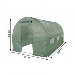 ProCart® Melegház Védőfólia, 2,5x4x2m, UV szűrő, 140g / m2, ablakok, 2 bejárat