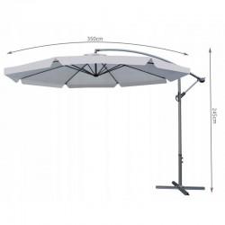 MT Malatec kerti napernyő, vízálló, átmérője 300 cm, állítható dőlésszög