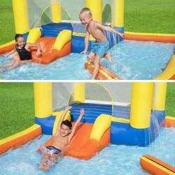 ProCart® Játszótér medencével, trambulin és csúszda, felfújható, 365x340 cm