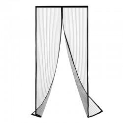 ProCart® Szúnyogháló ajtóhoz, 100x220 cm, mágneses záródás, fekete