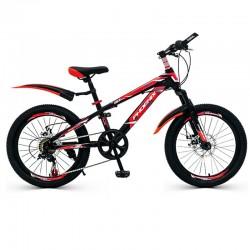 PHOENIX MTB kerékpár, 22 hüvelyk, 7 sebességes Shimano, acél váz, alumínium kerekek, piros