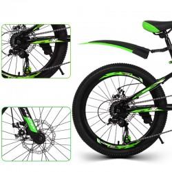 PHOENIX MTB kerékpár, 22 hüvelyk, 7 sebességes Shimano, acél váz, alumínium kerekek, zöld