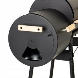 ProCart® Faszéngrill, BBQ füstölö, füstölö rekesz, beépített hőmérő, kerekek