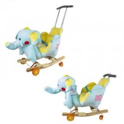 Roben Toys Elephant baba hintaszék, kihúzható fogantyúval, kerekekkel, biztonsági övvel