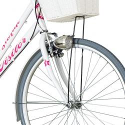 Visitor Stormi Női kerékpár, 26 hüvelykes, acél váz, 3 Shimano sebesség, csomagtartó, bevásárló kosár, V-fék