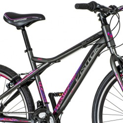 Visitor Aurora MTB kerékpár, 26 hüvelykes, 18 sebességes Shimano, acél váz, V-fék, alumínium kerekek