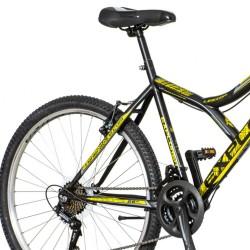 Explorer Legion MTB kerékpár, 26 hüvelykes hardtail, 18 sebességes Power, acél váz,  V-fék