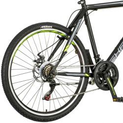 Explorer Classic MTB kerékpár, 26 hüvelykes, acél váz, 18 Shimano sebesség, tárcsafékek