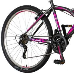 Explorer Daisy MTB kerékpár, 26 hüvelykes, acél váz, 18 sebességes Power váltó, V-fék