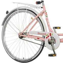Venssini Diamante Női kerékpár, 26 hüvelyk, acél váz, bevásárló kosár, csomagtartó