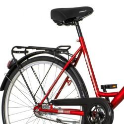 Scout Partizan Városi kerékpár, 26 hüvelykes, acél váz, V-fékrendszer, egysebességes, piros