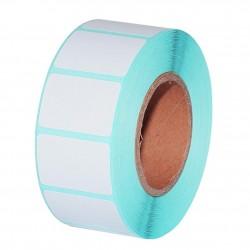 Euccoi Közvetlenül termikus öntapadó címkék, fehér, 35x25 mm, 800 címkék tekercsben