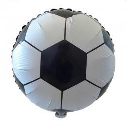 ProCart® Léggömb készlet, futball téma, vászon háttér, latex, alumínium fólia, 63 darab