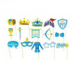 ProCart® Gyerekparti kellékek, Photo Booth kiegészítők, 15 db különféle kiegészítő készlet