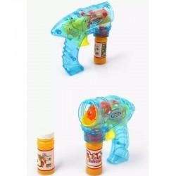 ProCart® Super Power buborékfújó pisztoly LED-es lámpákkal, 2 palack oldatot tartalmaz