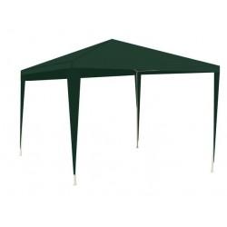 MT Malatec kerti sátor, 3x3 m, 4 fal, 3 ablak, acél váz, magasság 2,5 m, zöld