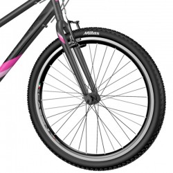 Explorer Classic MTB kerékpár, 27,5 hüvelykes, acél váz, 18 sebességes Shimano, V-Brake, fekete