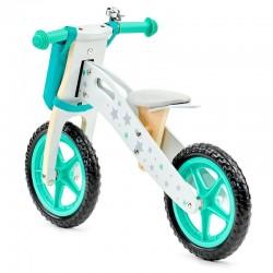 ProCart® gyerek kerékpár, 12 hüvelykes, pedálok nélkül, egyensúlyhoz, állítható ülés, fa, EVA habkerekek