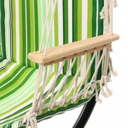 ProCart® Hinta függőágy, egyszemélyes, 100x48 cm, lábtartó, fából készült rúd