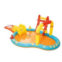 Bestway gyerek medence, több játék, úszómedence, csúszda, 435x213x117 cm