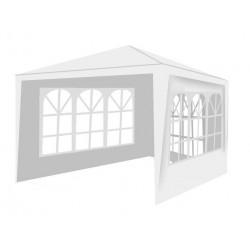 MT Malatec Kerti sátor, 3x3 m, 3 fal 3 ablakkal, fém keret, fehér színű