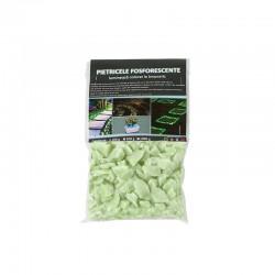 ProCart® Foszforeszkáló kavicsok, zöld, ragyogó dekoráció, granulálás 25 mm, 200 g