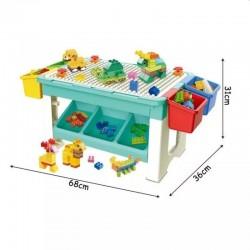 ProCart® Asztal építőelemekkel, 69 darab, 4 tároló doboz, oktató játék