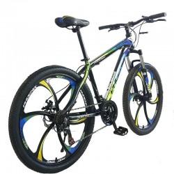 PHOENIX Mountain Bike Tornado Kerékpár, 26 hüvelykes, acélváz, tárcsafékek, 21 Shimano sebesség, kék-sárga
