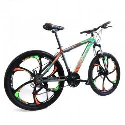 PHOENIX Tornado hardtail MTB kerékpár, 26 hüvelykes, Shimano 21 sebesség, acél keret, narancssárga-zöld