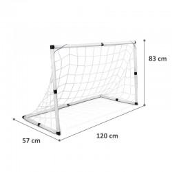 ProCart® Focikapu készlet hálóval, labda, pumpa, 120x57x83 cm
