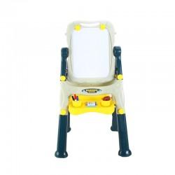 ProCart® Mágneses tábla, 2 oldal, gyerekeknek, 40x50 cm, állítható magasságú, tárolóhely