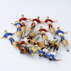 ProCart® Csocsó asztal, 12 játékos, 24 zászló, asztal, kapus csúszkával, 34x25,5 cm