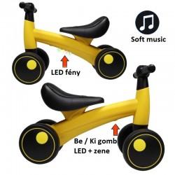 ProCart® pedál nélküli kerékpár, LED-es fények és zene, 1-3 év