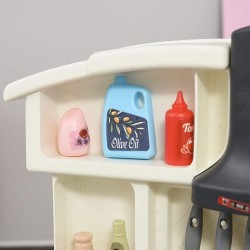 ProCart® Gyermekkonyha, hideg gőz, vízpumpás csap, főzési és ételkiegészítők, 61x56x25,5 cm