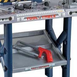 ProCart® Munkaasztal szerszámokkal gyerekeknek, elektromos fúró, satu, 55 db, 75x69x26,5 cm