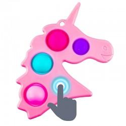 ProCart® POP IT Unikornis stresszoldó játék, szilikonból, érzéki buborékok, 19x12 cm