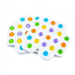 ProCart® POP IT Among Us stresszoldó játék, 20 sokszínű szilikon buborékok, 15,5x15 cm