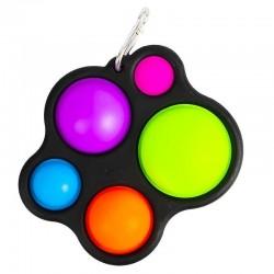 ProCart® POP IT kulcstartó játék, 5 szilikon buborék, gyermekek 3 éves kortól