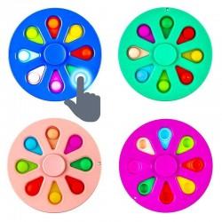 ProCart® POP IT Spinner játék, stresszcsökkentő buborékjáték, átmérője 9 cm