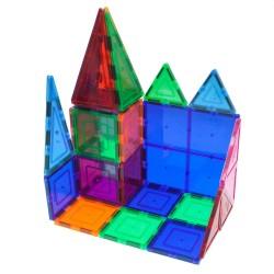 ProCart® Mágneses Építőkészlet, 30 darabos, többszínű, 3+ korosztály