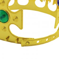 Funny Fashion Király korona, színes kövek, arany, 60 cm hosszú