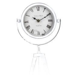 Segnale Dekoratív asztali óra, fémes, vintage modell, átmérője 15 cm