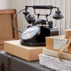 Segnale Telefon Retro fém asztali óra, mérete 33x17,5x21,5 cm