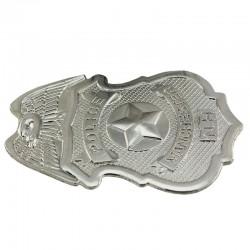 ProCart® Rendőrségi jelvény, fém, biztonsági tűs rögzítő, rendőri öltöny tartozék