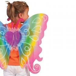 Funny Fashion pillangó szárnyak gyerekeknek, tematikus party jelmez, szivárvány